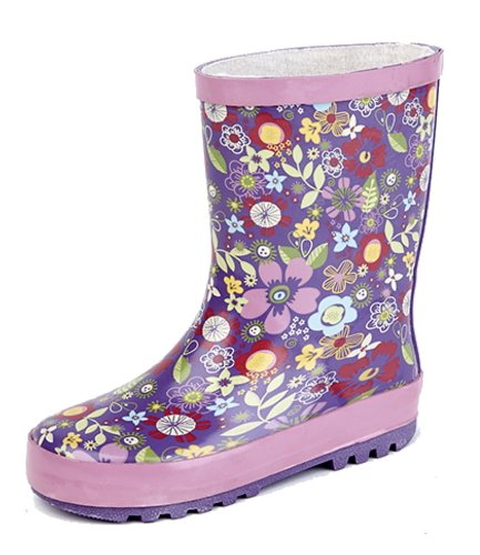 Stormwells Childrens Floral Printed Wellingtons UK Sizes (Kids) 4,5,6,7,8,9,10,11,12,13,1,2,