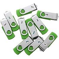 SODIAL(R)10 Stueck 2GB USB 2.0 Flash Laufwerk Memory Stick Speicher mit drehbarem Clip