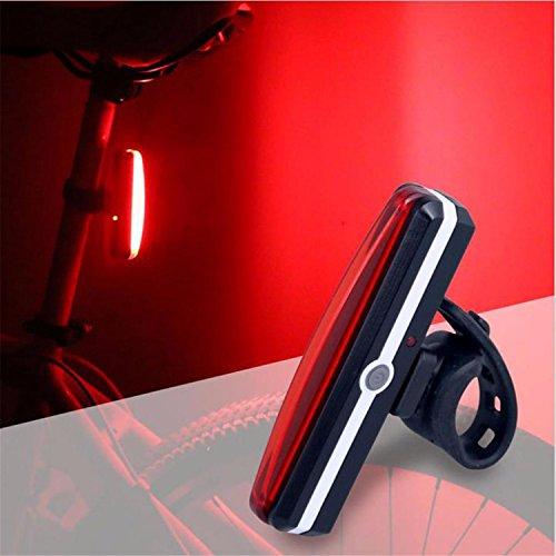 Fahrrad Rücklicht Bike Rücklicht LED Fahrrad Rücklicht Smart Fahrradbeleuchtung Wasserdichte Rückleuchte mit USB Anschluss 6 Licht-Modi Einfach zu installieren auf Fahrrad