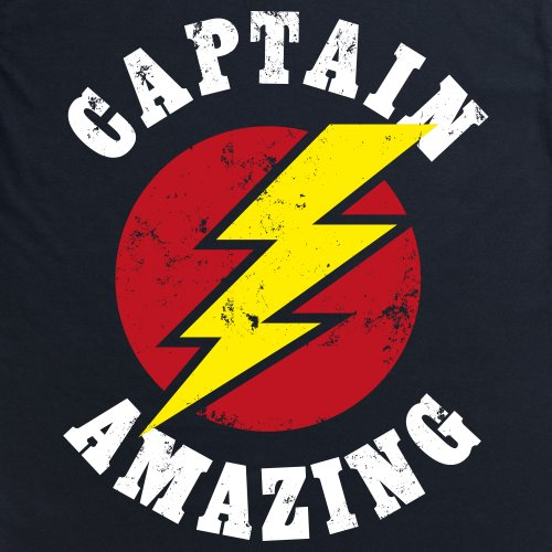 Captain Amazing T-Shirt, Damen Schwarz