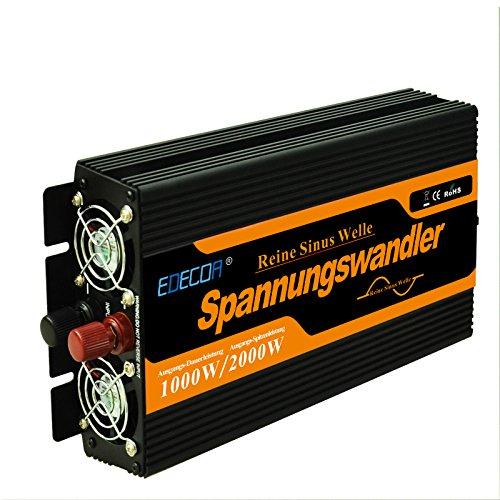 EDECOA Convertisseur 12v 220v Pur Sinus 1000w et Télécommande convertisseur Pur Sinus 1000w