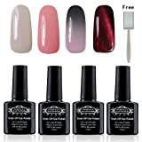 Vernis Semi Permanent - Perfect Summer 4pcs 10ml Vernis à Ongles Gel UV LED Soak Off Nail Art Manucure Lot #1