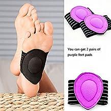 Case WonderCintas de soporte del pie elásticas / correas de soporte de arco para Fasciitis y arco plantares, plantillas del vendaje Arco Flatfoot Orthotics Cuidado del masaje (2 pares)