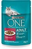 One Adult Katzenfutter mit Rind und Karotten, 24er Pack (24 x 85 g)