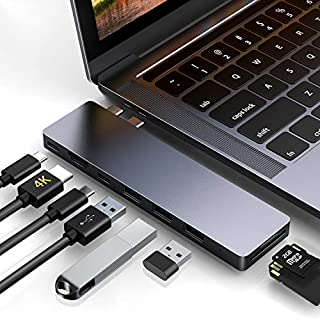 HOTUCG USB C Hub, USB-C Hub Adapter für MacBook Pro 2018/2017/2016 13