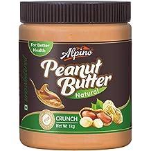 Alpino Natural Peanut Butter Crunch 1kg (Unsweetened / Gluten Free / Non-GMO / Vegan)