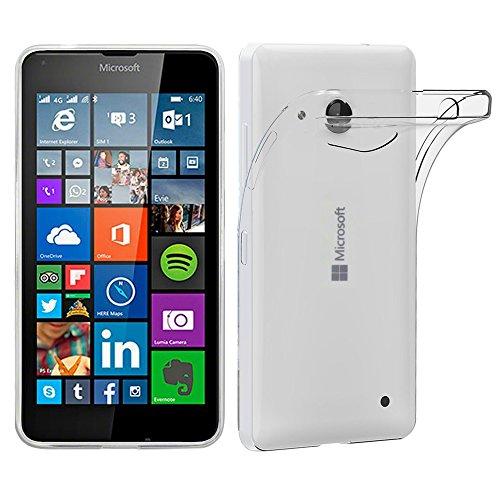 ebestStar - Microsoft Lumia 640 Hülle 640 LTE Dual Handyhülle [Ultra Dünn], Premium Durchsichtige Klar TPU Schutzhülle, Soft Flex Silikon, Transparent [Lumia 640: 141.3 x 72.2 x 8.8mm, 5.0'']