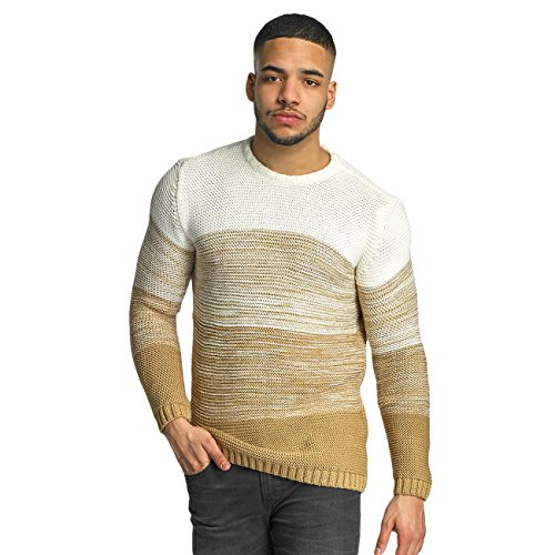 DEF Homme Hauts / Pullover Striped Beige