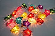 KharidoLive 20 LED Star Moon Shape String Lights for Diwali Christmas Home Decorations