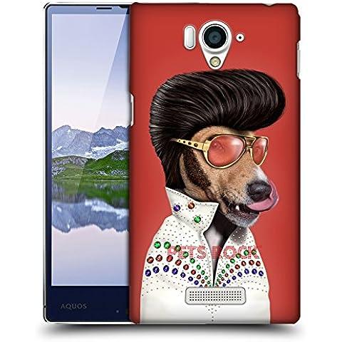 Ufficiale Pets Rock Vegas Musicisti 2 Cover Retro Rigida per Sharp Aquos Xx 304SH
