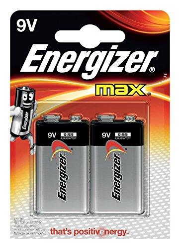 Energizer Batterie Max Alkaline 9V (E-Block/6LR61 2er-Packung)