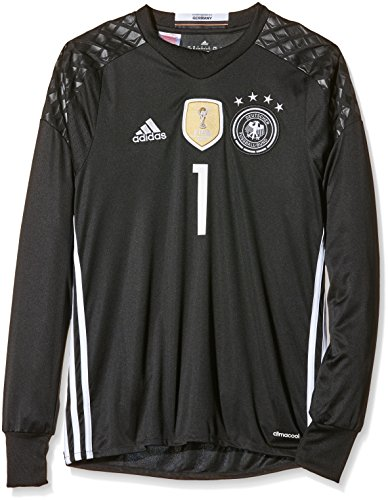 adidas Kinder Trikot DFB Goalkeeper Jersey Youth Neuer Black, 128