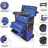 US PRO TOOLS - Organizador de herramientas, plástico y acero, 3 en 1, color azul