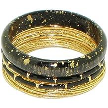 BANGLE SET (Over 20 Pieces): Damen Stackable Kunststoff & Metall Armreif / Armband Set