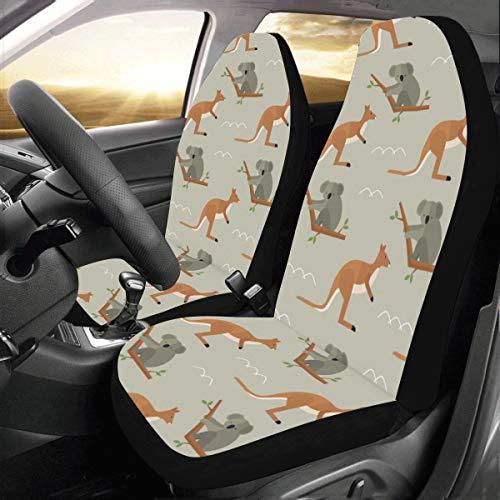 Kalamazoo Kangaroo Australien Benutzerdefinierte Neue Universal Fit Auto Drive Autositzbezüge Schutz Für Frauen Automobil Jeep Lkw Suv Fahrzeug Full Set Zubehör Für Erwachsene Baby (set Von 2 Vorne)