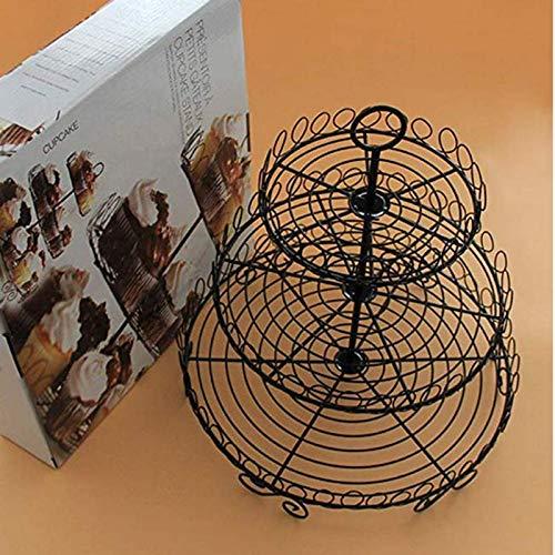 bbacb 3-Tier-Kuchen stehen und Fruit Teller Cupcake Kunststoff Ständer Cupcake Ausstattung Hardware für Hochzeit Party
