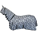Best On Horse Star Print Combo Fly Rug Full Neck Face Ears Bug Protection Sheet White