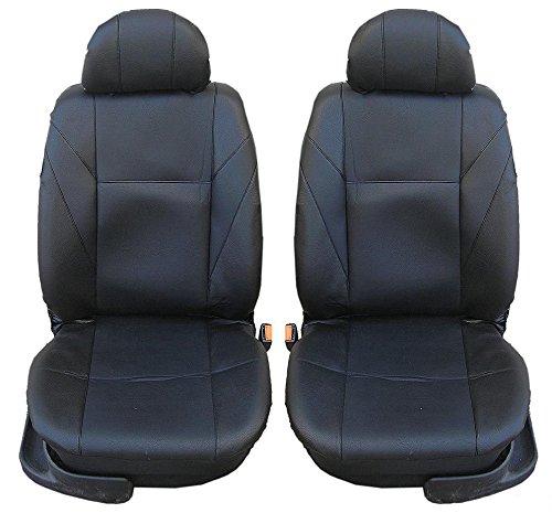 2 vordere Auto Sitzbezug Sitzbezüge Schonbezüge Schonbezug Universal Leder Schwarz