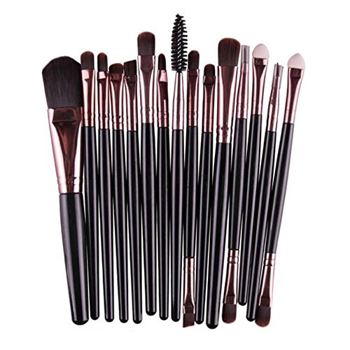 MRULIC 22pcs Make UP Pinsel Pinselset Schminkpinsel Kosmetikpinsel Kosmetik Brush (M-15Stück) -