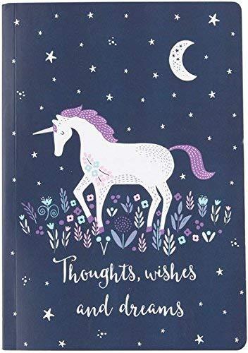 Quaderno per appunti, motivo: unicorno e cielo stellato, formato a5, cr184
