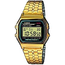 Casio Collection Reloj Digital Unisex con Correa de Acero Inoxidable – A159WGEA-1EF