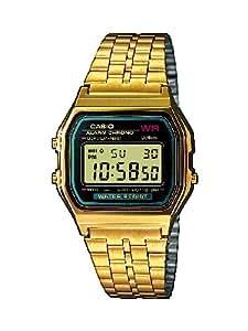 Casio Collection – Unisex-Armbanduhr mit Digital-Display und Edelstahlarmband – A159WGEA-1EF