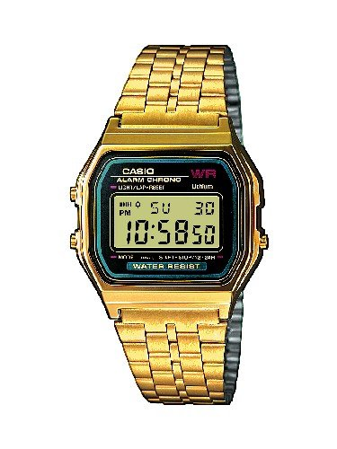 Casio Collection – Unisex-Armbanduhr mit Digital-Display und Edelstahlarmband – A159WGEA-1EF