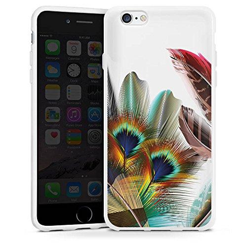 Apple iPhone 6 Silikon Hülle Case Schutzhülle Pfauenfedern ohne Hintergrund Pfau Silikon Case weiß