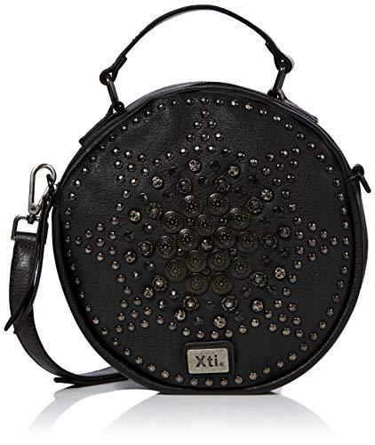 XTI 86154, Bolso bandolera para Mujer, (Negro), 23x23x7 cm (W x H x L)