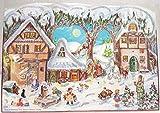 Adventskalender A4- Schnee im Dorf gestanzt