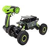 Lesgos RC Cars off Road, High Speed Rock Crawlers Scala 1:18 4WD Remote Control Racing Car Toys with 2.4GHz Controller, Charger, Road Vehicle Toys per Ragazzi, Ragazze e Adulti Green