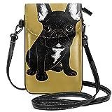Liliylove Brindle Französische Bulldogge leichte kleine Umhängetasche, Handtasche, Geldbörse für...