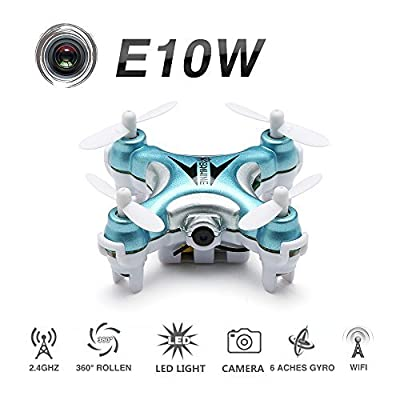 EACHINE IOS/Android APP Wifi Mini FPV Quadcopter Drone With HD Camera 2.4G 4CH 6 Axis RC Quadcopter Altitude Mode One Key To Return 3D Roll RTF Mode2