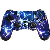 DOTBUY PS4 Controlador Diseñador Piel para Sony PlayStation 4 mando inalámbrico DualShock x 1 (Electric Blue)