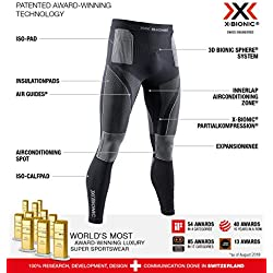 X-Bionic Energy Accumulator 4.0 Pants Men Capa De Base Pantalones Funcionales, Hombre, Charcoal/Pearl Grey, S