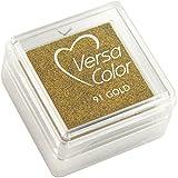 Rayher - 28395620 - Versacolor - almohadilla de tinta para sello, superficie de 2,5 x 2,5 cm, color oro brillante