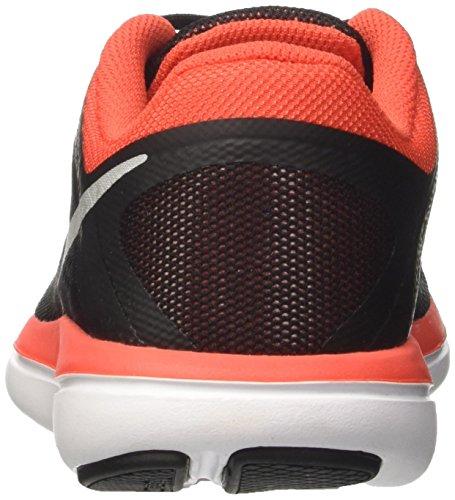 Nike Flex 2016 Rn Gs, Scarpe da Corsa Bambino Nero (Black/Mtlc Silver/Max Orange/Orchid/White)