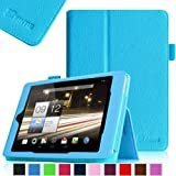 Fintie Folio Case Cover for Acer Iconia A1-810 7.9 -Inch Tablet Slim Fit With Stylus Holder - Blue