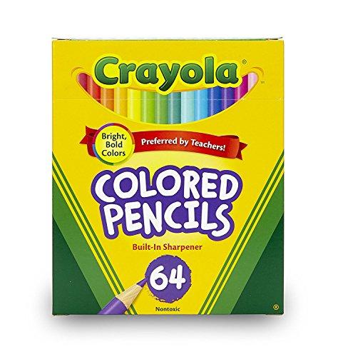 Crayola Mini-Buntstifte in verschiedenen Farben, zum Ausmalen, für Kinder, 64 Karat