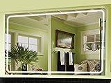 Zagreb Spiegel mit LED Beleuchtung Badspiegel - 140 cm x 100 cm - Zimmer Spiegel Beleuchtet