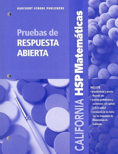 SPA-CA HSP MATEMATICAS P-GRD 1