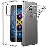 EasyAcc Honor 6X Custodia, Huawei Honor 6X 5.5'' Morbido TPU Custodia Cover Cristallo limpido Trasparente Slim Anti Scivolo Custodia Protezione Posteriore Cover Antiurto per Honor 6X immagine
