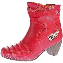e5d2d3d035 TMA Damen Stiefeletten 8909 echt Leder Stiefel Comfort Schuhe Boots  Ziernähte Gr. 36-42