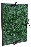 Clairefontaine 33400C Annonay Zeichenmappe (mit Bändern, ohne Klappen, Rücken 30 mm, innen: 73 x 103 cm, außen: 75 x 105 cm, ideal zur Aufbewahrung Ihrer Werke) grün