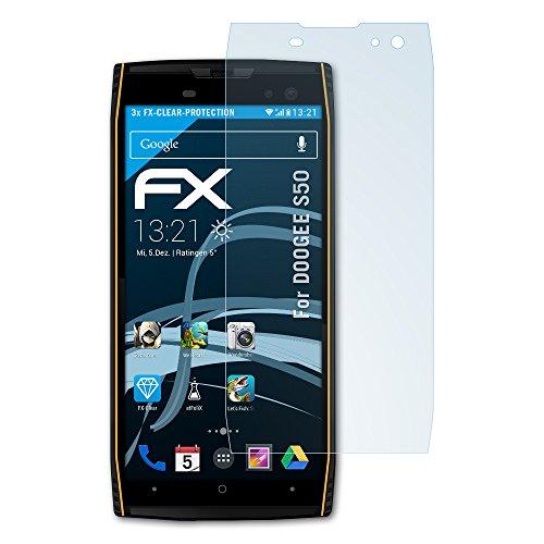atFolix Schutzfolie kompatibel mit DOOGEE S50 Folie, ultraklare FX Displayschutzfolie (3X)