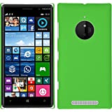 Funda Rígida para Nokia Lumia 830 - goma verde - Cover PhoneNatic Cubierta + protector de pantalla