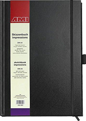 185922 - Skizzenbuch Impressions, A4, exclusives und starkes Papier in hell-chamois!