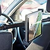 Supporto Per Tablet Per Poggiatesta Auto Gira 360 Gradi - Supporti per Tablet da 19 cm a 30 cm di Larghezza - Per Cellulari iPhone, iPad, Samsung Galaxy, Google Nexus, LG G4, Nokia, Motorola, HTC - Olixar Universal Tablet Car Headrest Mount Pro - Nero
