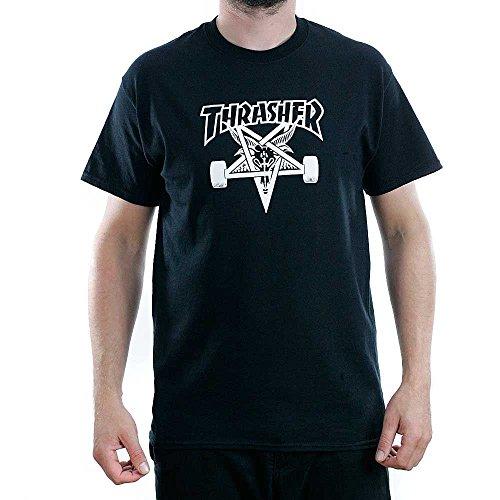 Thrasher maglietta t-shirt maniche corte da uomo colore nero - nero, s