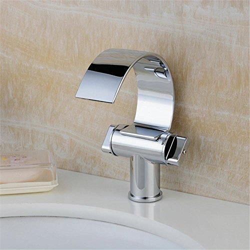 BBSLT Rame, cascate, tipo c, bacino del rubinetto in ottone, acqua calda e fredda, sotto il bacino del contatore, rubinetto, doppia maniglia